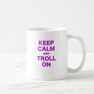 Keep Calm and Troll On Coffee Mugs