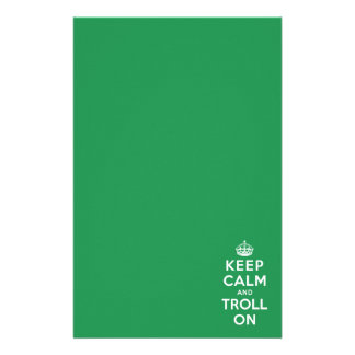 Keep Calm and Troll On Stationery