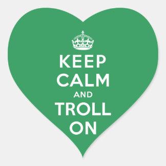 Keep Calm and Troll On Heart Sticker