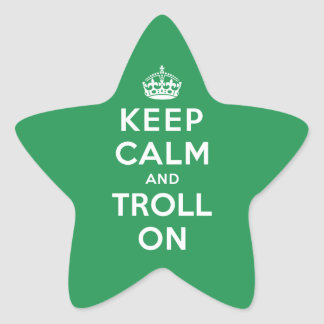 Keep Calm and Troll On Star Stickers