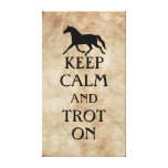 Keep Calm and Trot On Equestrian Gallery Wrap Canvas