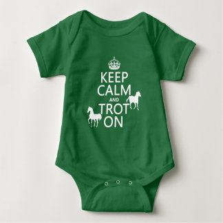 Keep Calm and Trot On - Horses - All Colors Baby Bodysuit