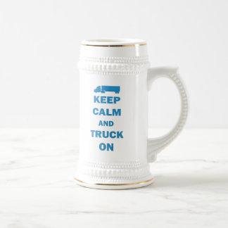 Keep Calm and Truck On Mugs