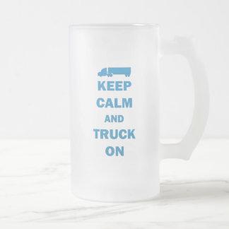 Keep Calm and Truck On Coffee Mugs
