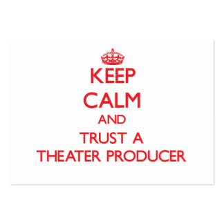 Keep Calm and Trust a aater Producer Pack Of Chubby Business Cards