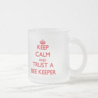 Keep Calm and Trust a Bee Keeper Mugs