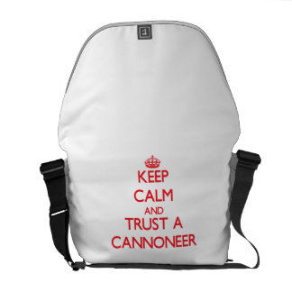 Keep Calm and Trust a Cannoneer Courier Bag