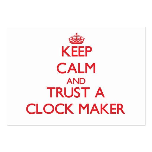 Keep Calm and Trust a Clock Maker Business Card
