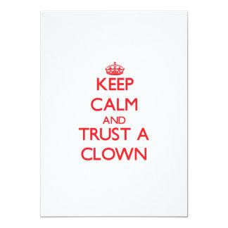 Keep Calm and Trust a Clown Cards