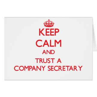 Keep Calm and Trust a Company Secretary Card