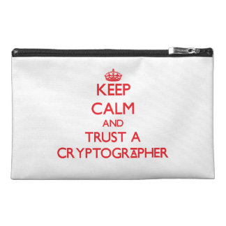 Keep Calm and Trust a Cryptographer Travel Accessories Bags