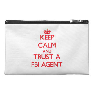 Keep Calm and Trust a Fbi Agent Travel Accessories Bags