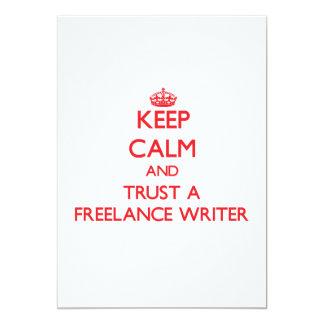 Keep Calm and Trust a Freelance Writer Custom Announcements