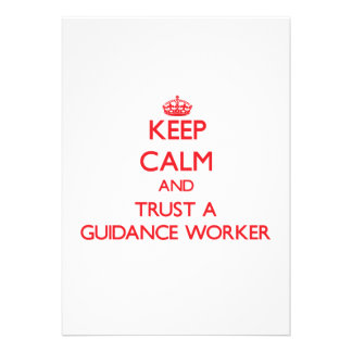 Keep Calm and Trust a Guidance Worker Card