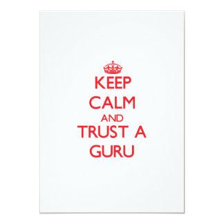 Keep Calm and Trust a Guru 13 Cm X 18 Cm Invitation Card