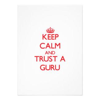 Keep Calm and Trust a Guru Personalized Invitation