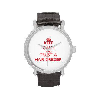 Keep Calm and Trust a Hair Dresser Wristwatch