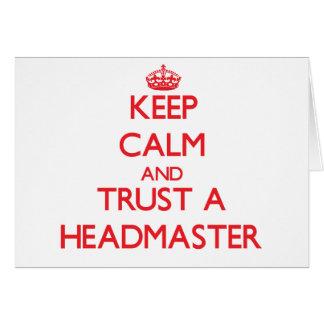 Keep Calm and Trust a Headmaster Cards
