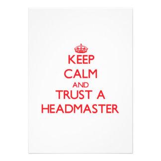 Keep Calm and Trust a Headmaster Card