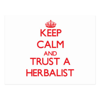 Keep Calm and Trust a Herbalist Post Card