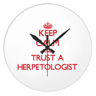 Keep Calm and Trust a Herpetologist Wallclock