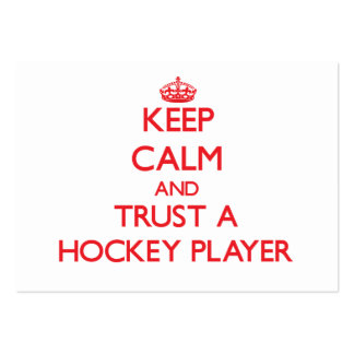 Keep Calm and Trust a Hockey Player Business Card Template