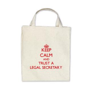 Keep Calm and Trust a Legal Secretary Tote Bag
