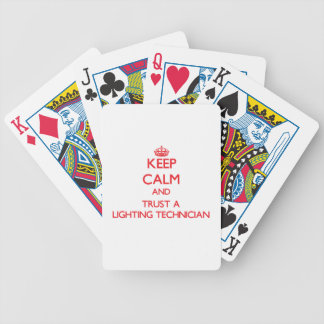 Keep Calm and Trust a Lighting Technician Bicycle Card Deck