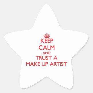 Keep Calm and Trust a Make Up Artist Star Sticker