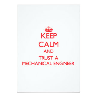 Keep Calm and Trust a Mechanical Engineer Announcements