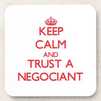 Keep Calm and Trust a Negociant Coaster