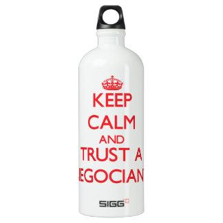 Keep Calm and Trust a Negociant SIGG Traveller 1.0L Water Bottle