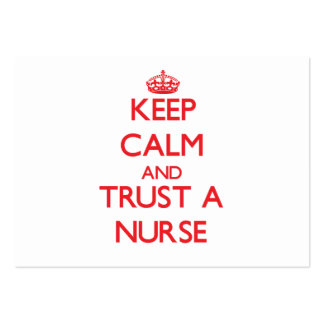 Keep Calm and Trust a Nurse Large Business Cards (Pack Of 100)