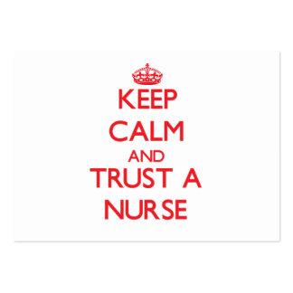 Keep Calm and Trust a Nurse Business Card Templates