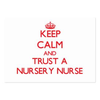 Keep Calm and Trust a Nursery Nurse Business Cards