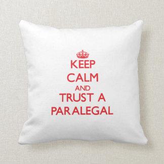 Keep Calm and Trust a Paralegal Cushion