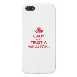 Keep Calm and Trust a Paralegal Cover For iPhone 5/5S