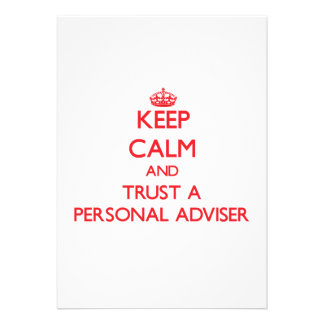 Keep Calm and Trust a Personal Adviser Card
