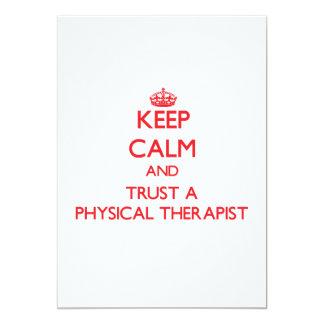 Keep Calm and Trust a Physical arapist Custom Announcement