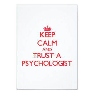 Keep Calm and Trust a Psychologist Invite