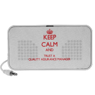 Keep Calm and Trust a Quality Assurance Manager Notebook Speaker