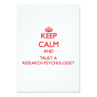 Keep Calm and Trust a Research Psychologist Personalized Invite