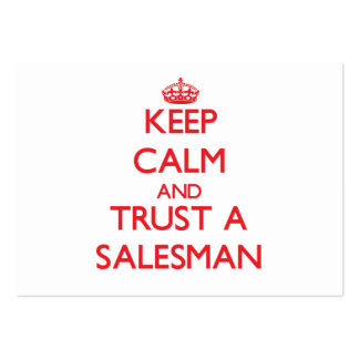 Keep Calm and Trust a Salesman Business Card
