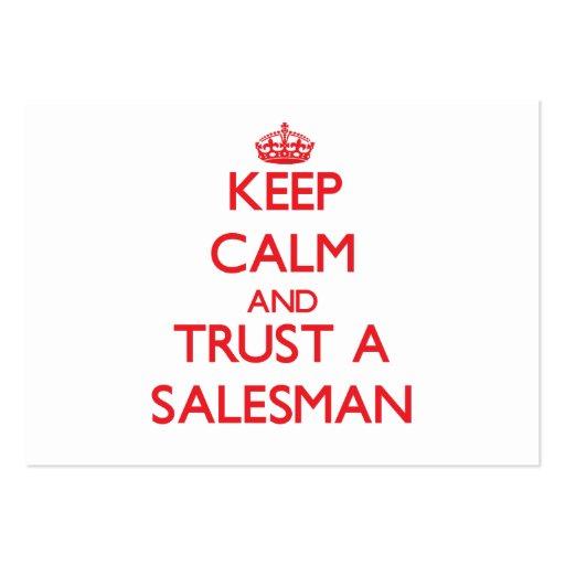 Keep Calm and Trust a Salesman Business Card