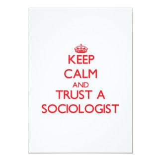 Keep Calm and Trust a Sociologist Invitation