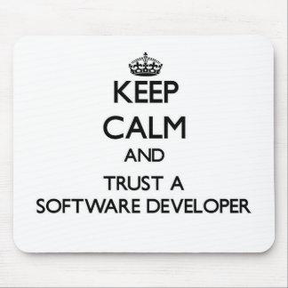 Keep Calm and Trust a Software Developer Mousepad