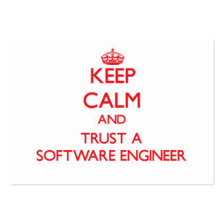 Keep Calm and Trust a Software Engineer Business Cards