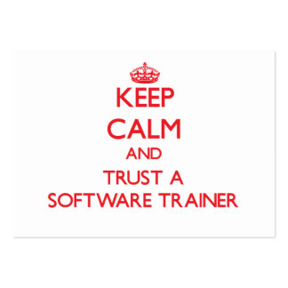 Keep Calm and Trust a Software Trainer Business Cards