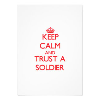 Keep Calm and Trust a Soldier Personalized Invite