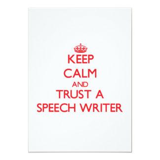 Keep Calm and Trust a Speech Writer Card